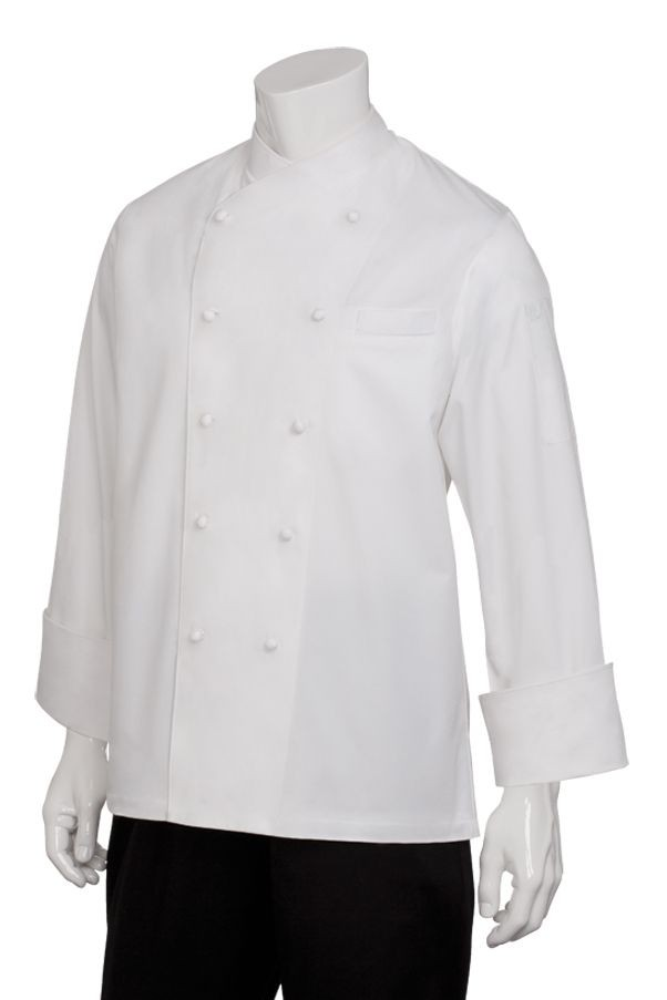 Chef Works ECCW Milan Egyptian Cotton Chef Coat, White