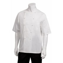 Chef Works ECSS Capri Egyptian Cotton Short Sleeve Chef Coat