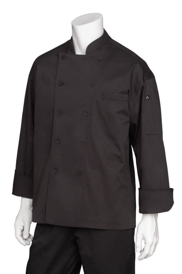 Chef Works EWCB Black Zurich Executive Chef Coat