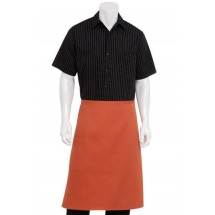 Chef Works F24-SHORT Two-Pocket Rust Bistro Apron