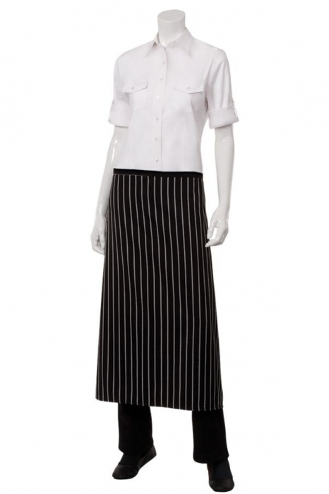 Chef Works F24S Black Chalk Stripe Bistro Apron