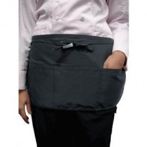 Chef Works FREV-BLK Reversible Black Waist Apron