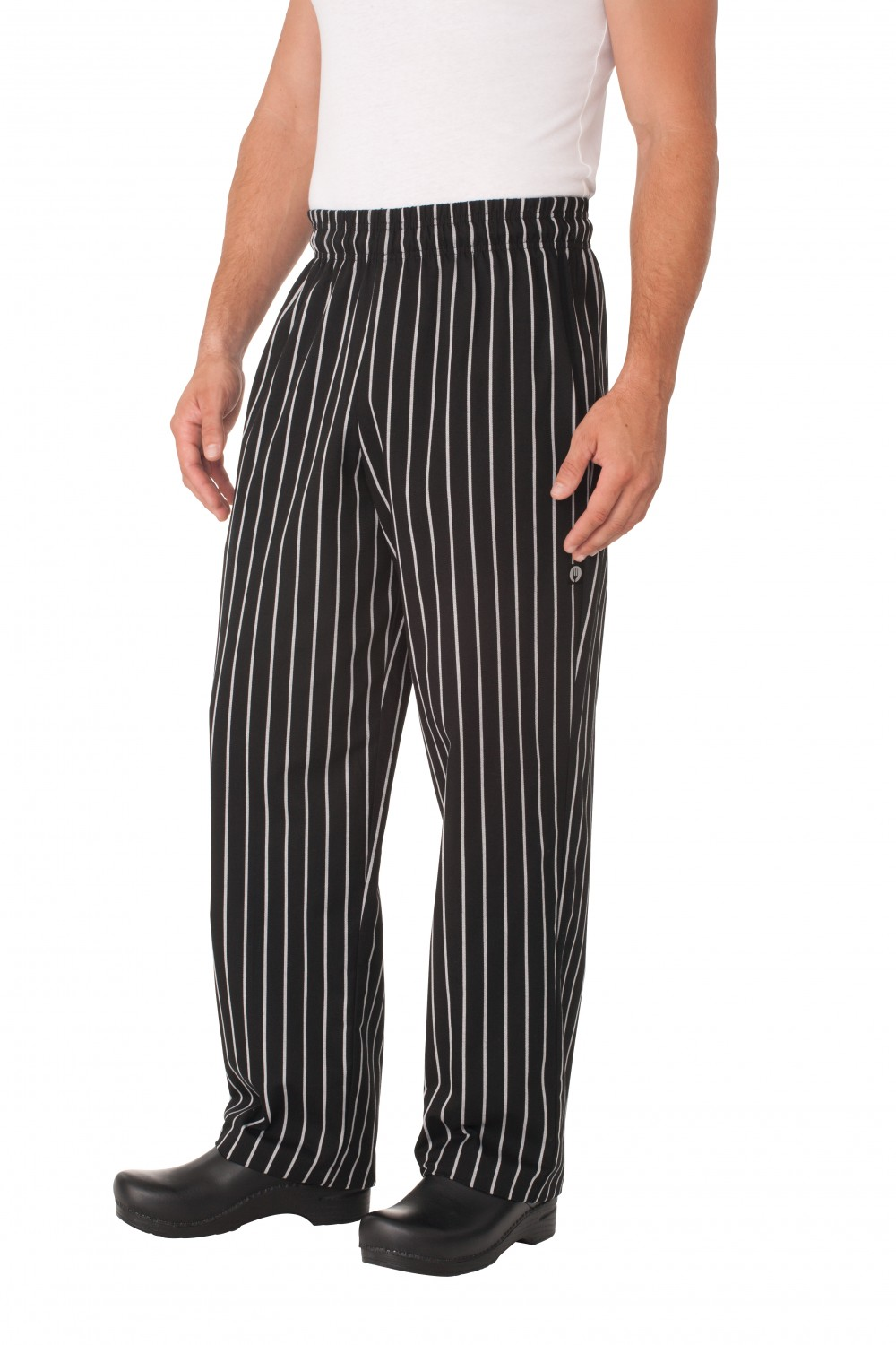 Chef Works GSBP Chalk Stripe Designer Baggy Pants