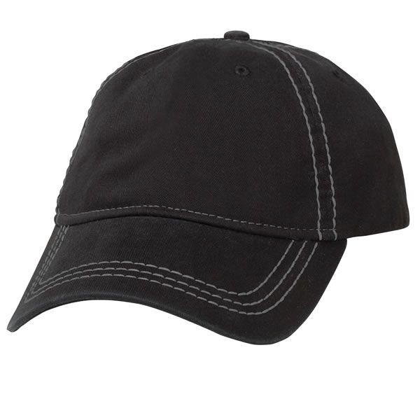 Chef Works HC006 Cotton Twill Stitched Cap in Black/Gray