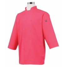 Chef Works JLCL-BER Basic 3/4 Sleeve Cool Vent Chef Coat, Berry