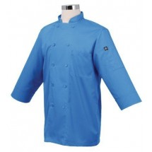 Chef Works JLCL-BLU Basic 3/4 Sleeve Cool Vent Chef Coat, Blue