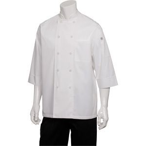 Chef Works JLCL-WHT Basic 3/4 Sleeve Cool Vent Chef Coat, White
