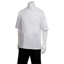 Chef Works JLCV-WHT Montreal Cool Vent Basic Chef Coat, White