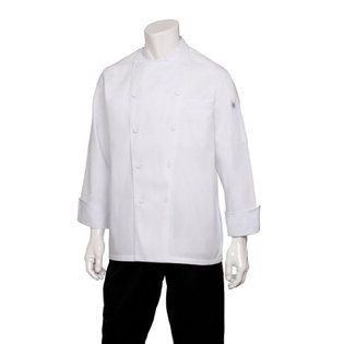 Chef Works JLLS-WHT Calgary White Cool Vent Basic Chef Coat