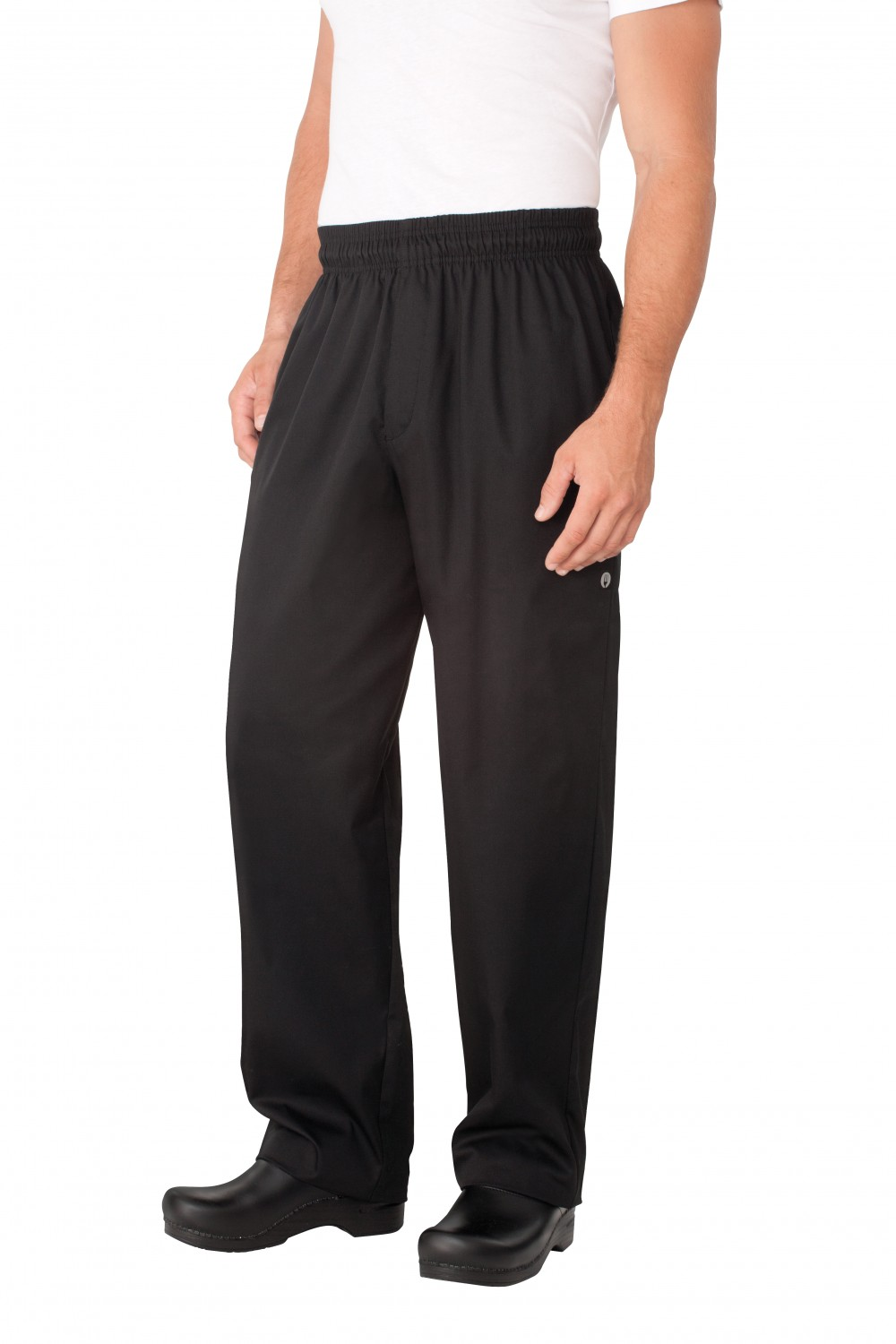Chef Works NBBZ Black Baggy Chef Pants with Zipper