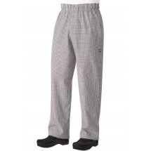 Chef Works NBMZ Checked Baggy Chef Pants with Zipper