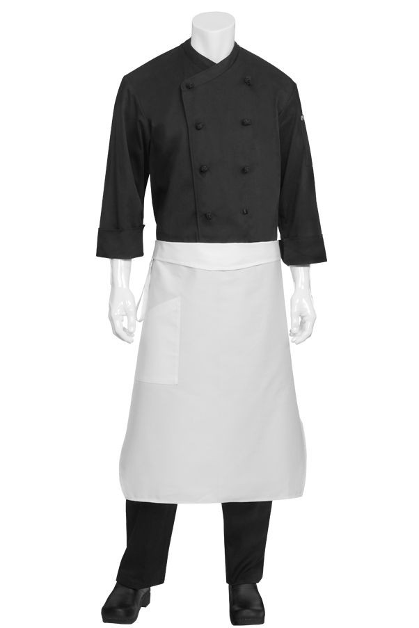 Chef Works PCTA Tapered White Apron with Pocket
