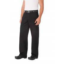 Chef Works PSER-BLK Black Professional Series Chef Pants