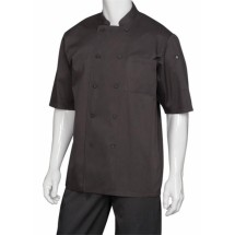 Chef Works S100-BLK 3/4 Sleeve Chef Shirt, Black