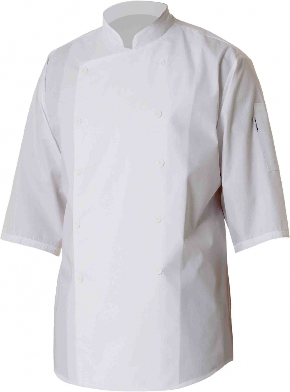 Chef Works S100-WHT 3/4 Sleeve Chef Shirt, White