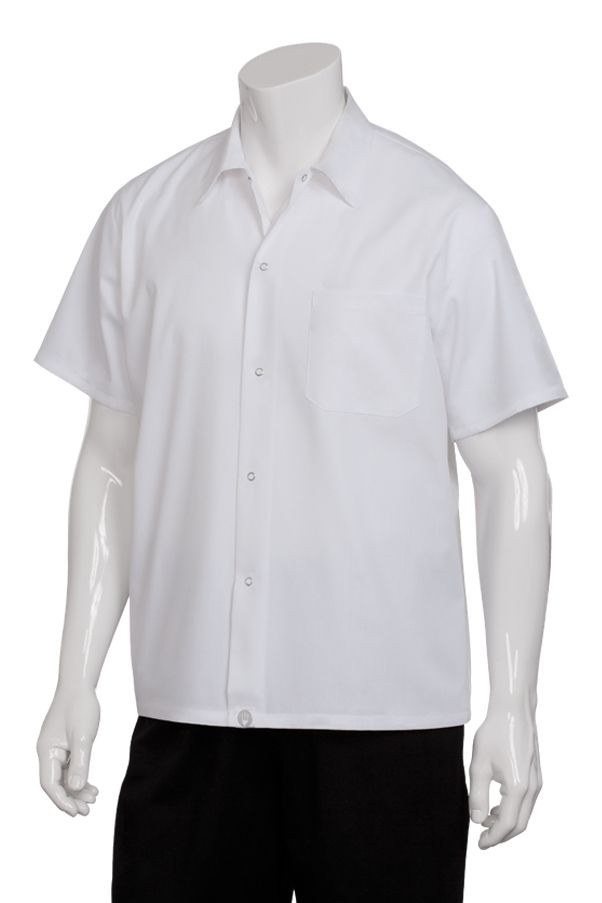 Chef Works SHYK-WHT Poly/Cotton Utility Cook Shirt, White