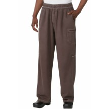 Chef Works UPEW-CHO Chocolate Brown Enzyme Utility Chef Pants