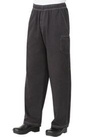 Chef Works UPEW-SMO Smoke Gray Enzyme Utility Chef Pants