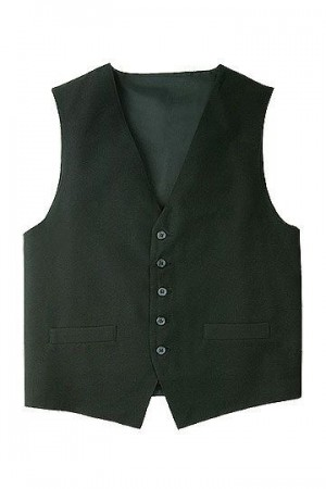 Chef Works VPME Men's Plain Black Vest