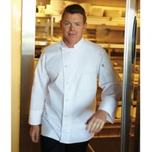 Chef Works VSLS-WWH V-Series Lyss Long Sleeve White Chef Coat