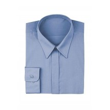 Chef Works W100-FRB French Blue Women's Basic Dress Shirt