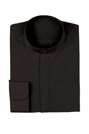 Chef Works W200-BLK Women's Black Banded Collar Server Shirt