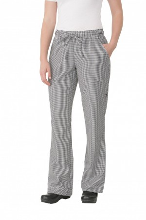 Chef Works WBAW Small Check Women's Chef Pants