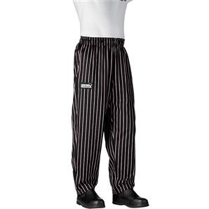 Chefwear 3000-08 Black / Pink Chalkstripe Baggy Chef Pants
