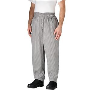 Chefwear 3000-10 Black / White Houndstooth Baggy Chef Pants