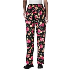 Chefwear 3150-206 Women's Low Rise Chef Pants, Pomegranate