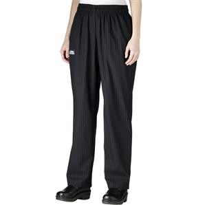Chefwear 3150-50 Women's Low Rise Chef Pants, Black / Grey Houndstooth