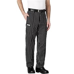 Chefwear 3640-35 Black Chalkstripe Chef Pants