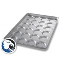 "Chicago Metallic B2409 Individual Hamburger Bun / Muffin Pan 17-11/16"" x 25-11/16"""