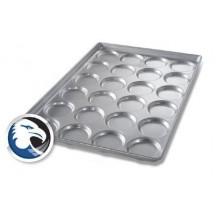 Chicago Metallic 42345 Hamburger Bun /  Muffin Pan, 24 Molds 28-3/4