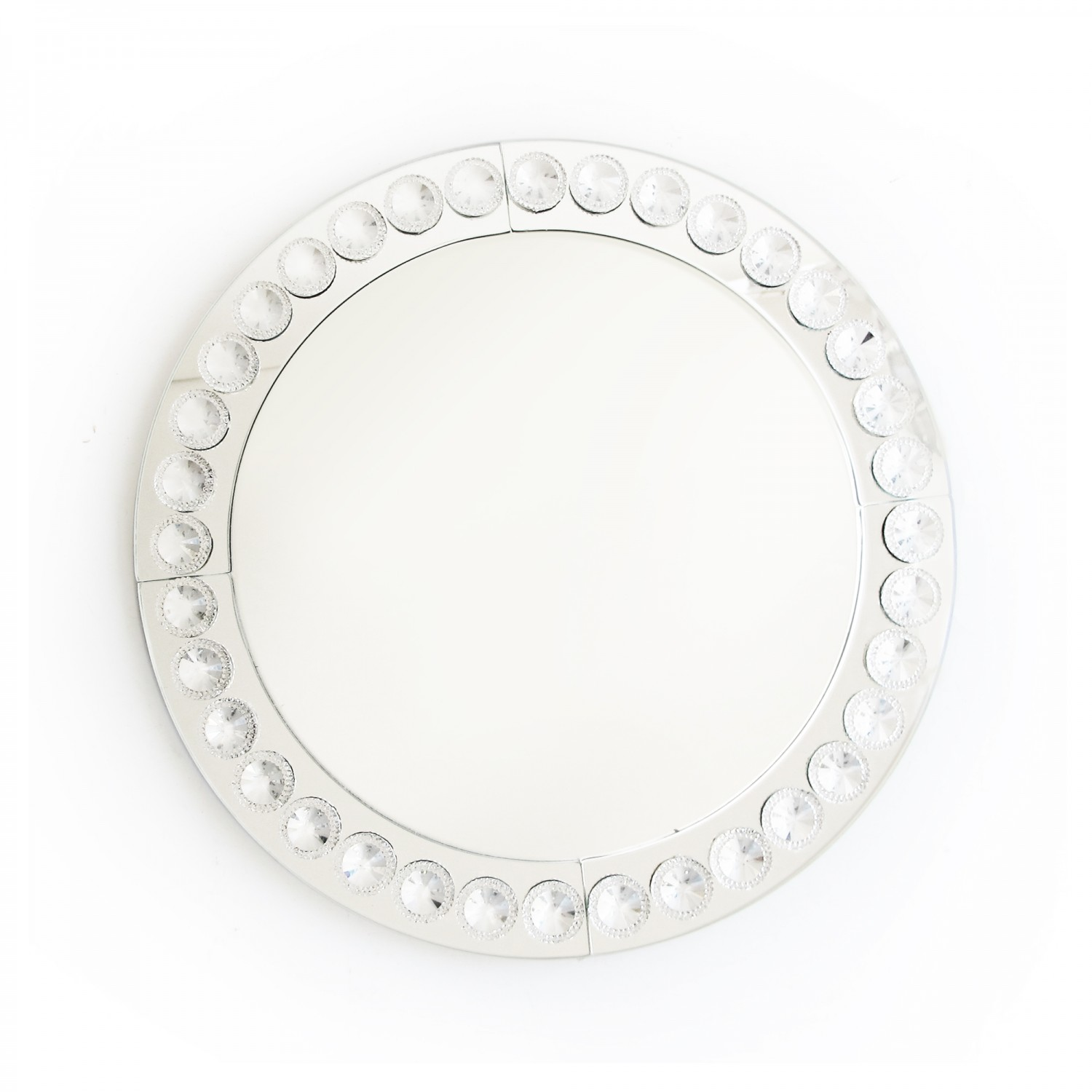 The Jay Companies 1332638 Round Clear Beaded Glass Charger Plate 13""