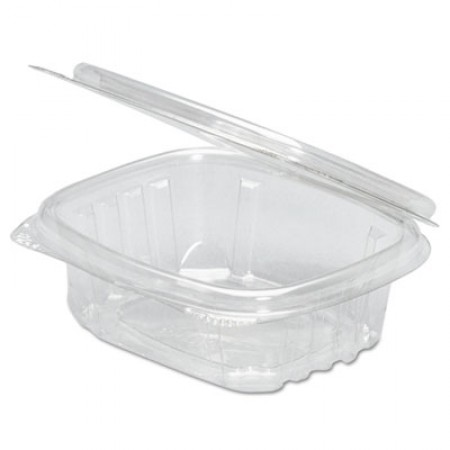 Clear Hinged Deli Container, 32oz, 7 1/4 x 6 2/5 x 2 5/8, 100/Bag, 2 Bags/Carton