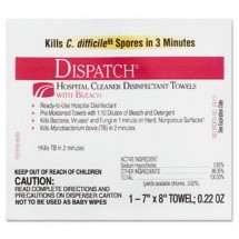 Clorox Dispatch Cleaner Disinfectant Towels with Bleach, 50 Towels/Box, 6 Boxes/Carton