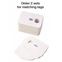 Coat Check Tags Plastic 1-100