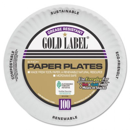 White Coated Paper Plates, 6