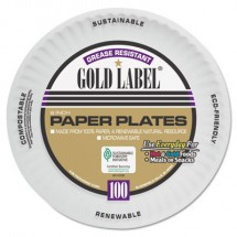 """White Coated Paper Plates, 6"""", 1200/Carton"""