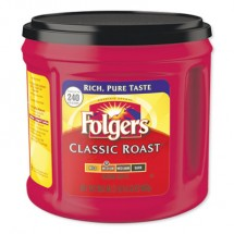 Folgers Coffee, Classic Roast, 30.5 oz. Canister, 6/Carton, 294/Pallet
