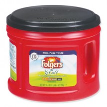 Folgers Coffee, Half Caff, 25.4 oz. Canister