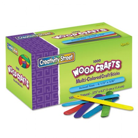Colored Wood Craft Sticks, 4.5