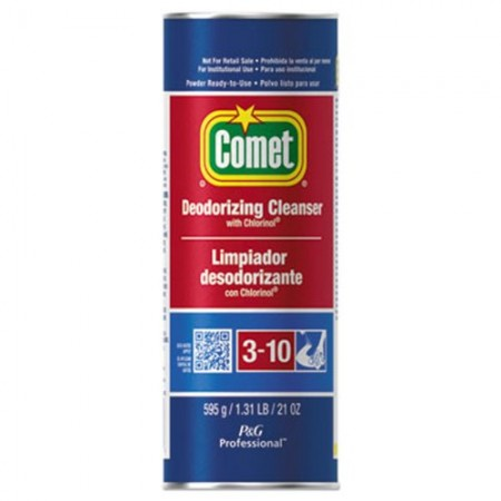 Comet Cleanser with Chlorinol, 21 oz. Canister, 24/Carton