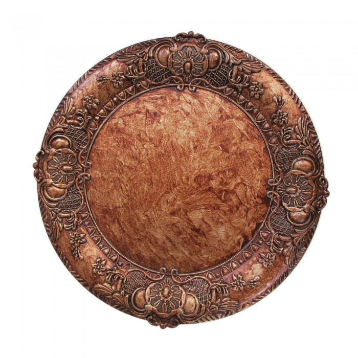 Jay Imports Antique Gold Charger Plate 14-inch Plate Set of Four