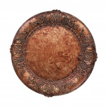 The Jay Companies 1320428 Round Embossed Copper Charger Plate 14""