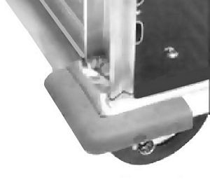 CresCor 1056-002 Corner Bumpers for Plate Casters