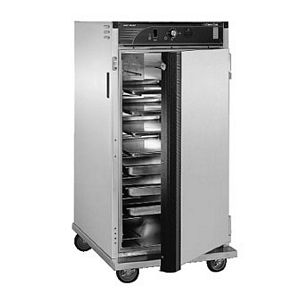 CresCor H-137-UA-9D Insulated Intermediate Height Mobile Heated Cabinet