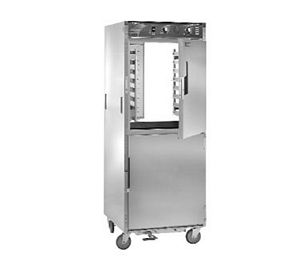 CresCor H-138-PWS-1834D Aqua Temp Pass-Thru Insulated Stainless Steel Mobile Heated Cabinet