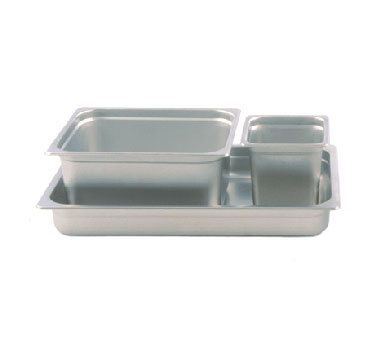 "Crestware 5004P Saf-T-Stak Full Size Perforated Steam Table Pan 4"" Deep"